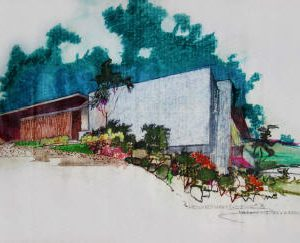 Neutra Rendering Hawks House