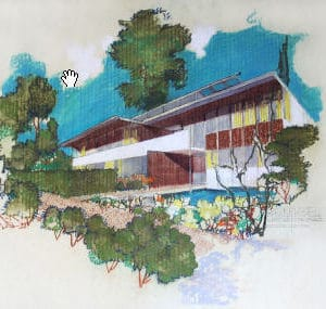 Neutra Rendering VDL House