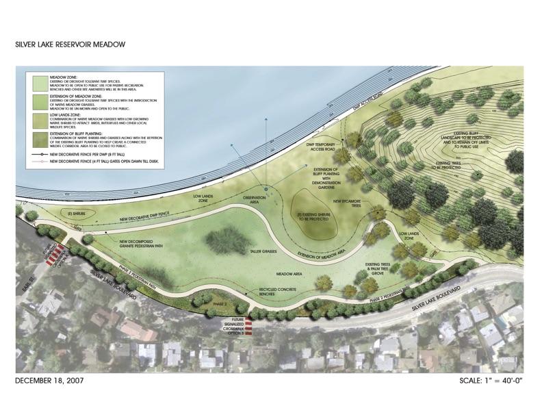 Silver Lake Reservoir Meadow plan